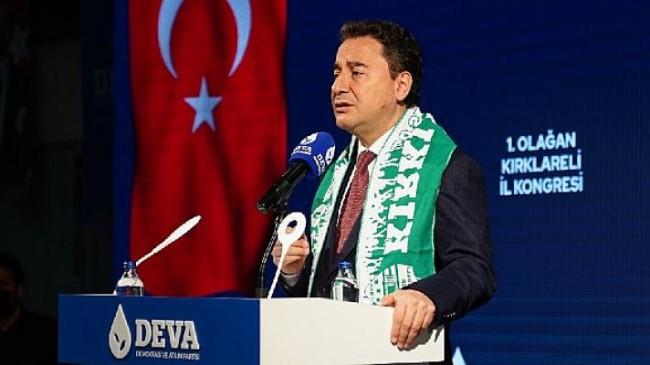 Ali Babacan Kırklareli'de: 'Ülkeyi yayık ayranına çevirdiniz, çalkalayıp duruyorsunuz'