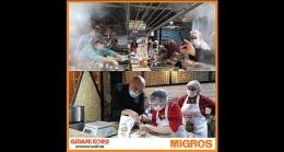 Migros'tan gıdanı koru sofrana sahip çık, kampanyasına büyük destek.