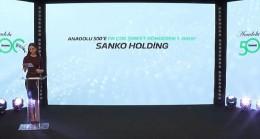 """Sanko Holding Onursal Başkanı Abdulkadir Konukoğlu'na Türkiye'ye değer kattığından dolayı """"Onur Ödülü"""" takdim edildi"""