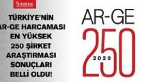 Ar-Ge'nin Gururu İlk 250 Listesi Belli Oldu