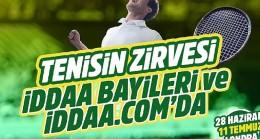 Teniste canlı bahis fırsatı iddaa'da