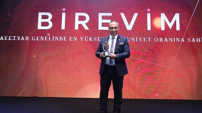 Tüm zamanların 'En Yüksek Müşteri Memnuniyeti Ödülü Birevim'in