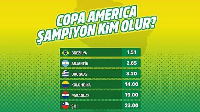 'Copa America Şampiyonu Kim Olur' bahsi iddaa'da