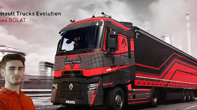 Renault Trucks'ın uluslararası yarışmasında Türk gencinin tasarımı, birinci oldu
