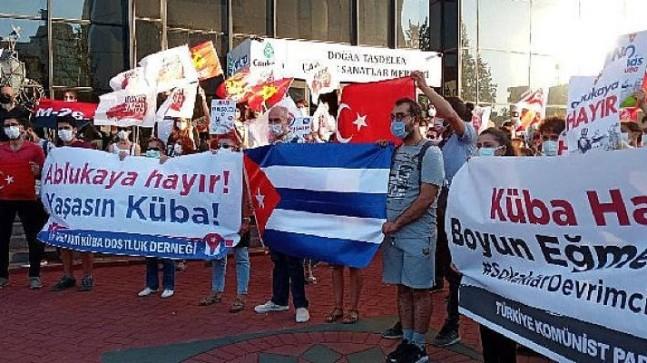 TKP ve Küba dostlarından ABD Büyükelçiliği önünde eylem